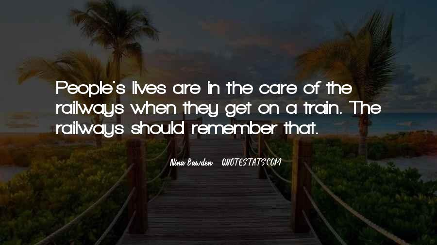 Quotes About People's Lives #21762