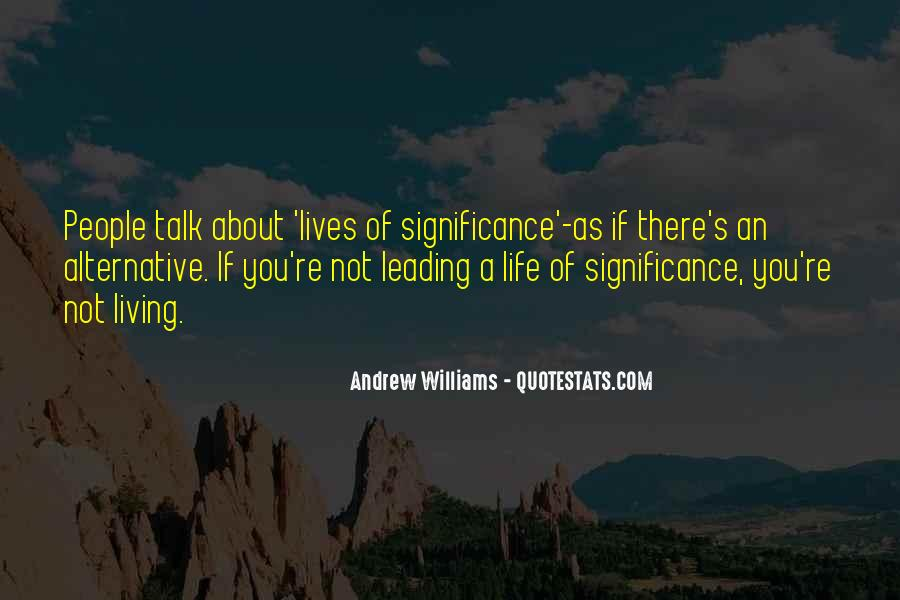 Quotes About People's Lives #34719