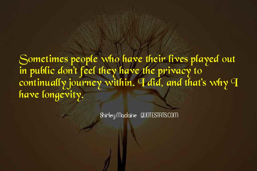 Quotes About People's Lives #56827