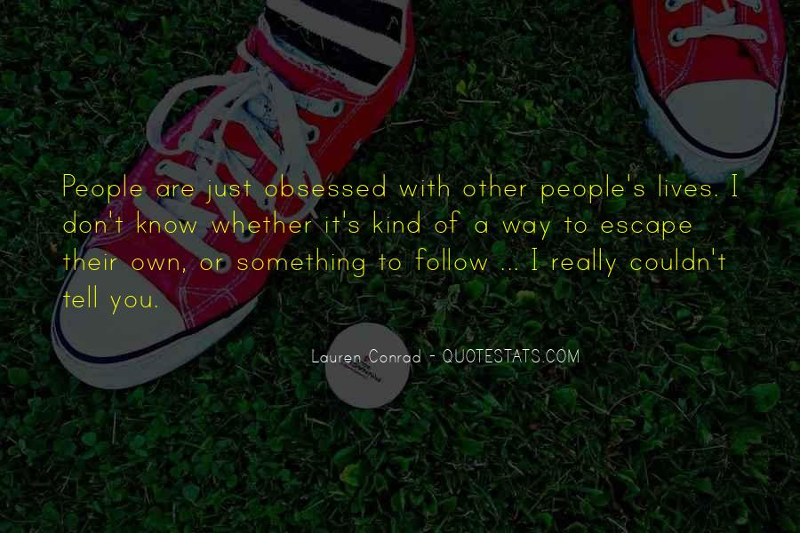 Quotes About People's Lives #61855