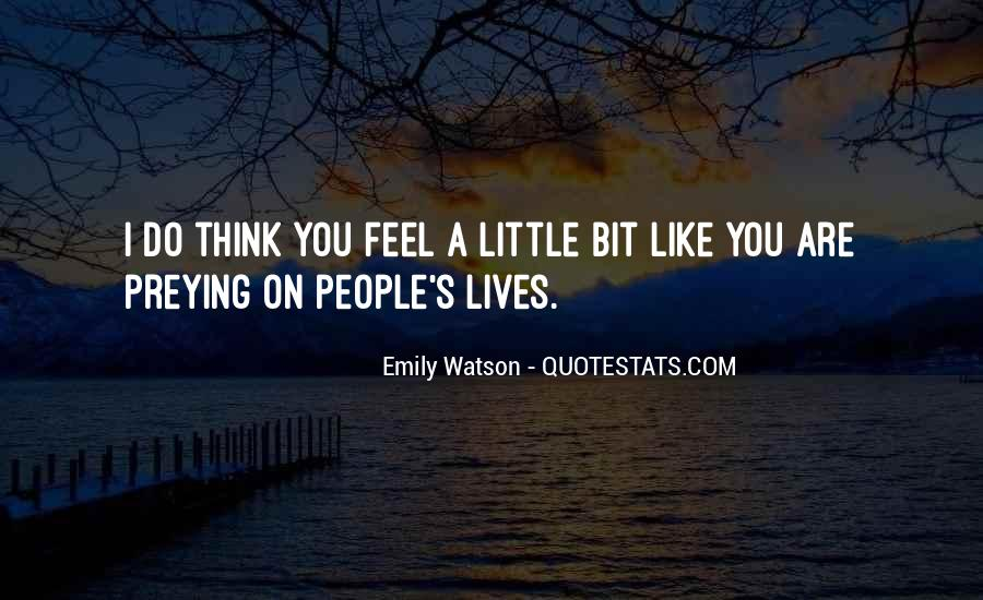 Quotes About People's Lives #62484