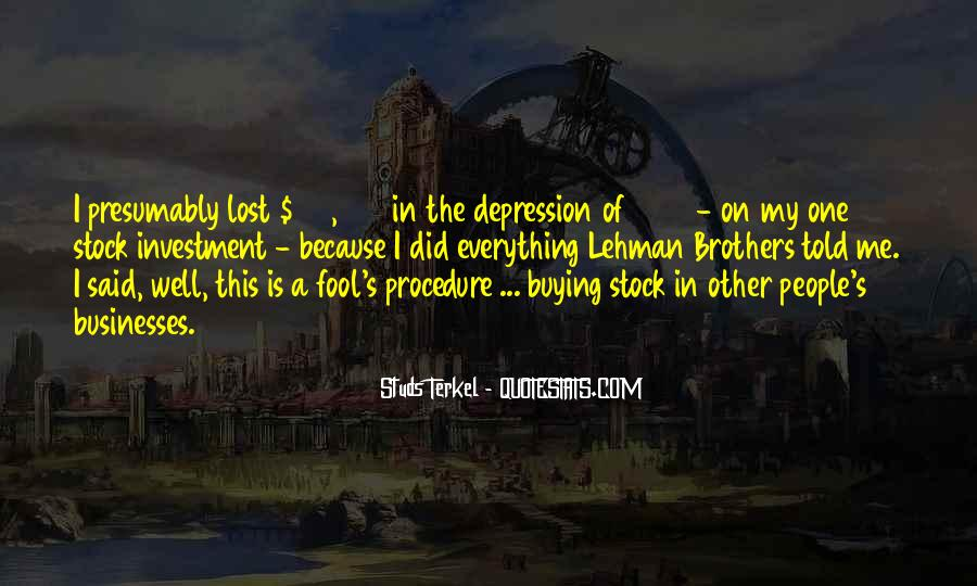 Quotes About Lehman Brothers #1239448