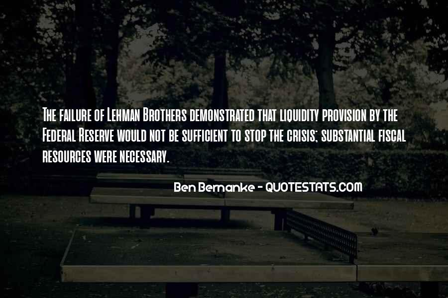 Quotes About Lehman Brothers #270313