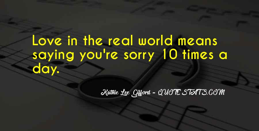 Quotes About Love Saying Sorry #290896