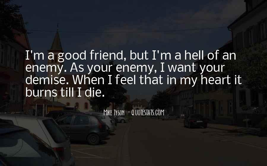 Quotes About Friend And Enemy #193916