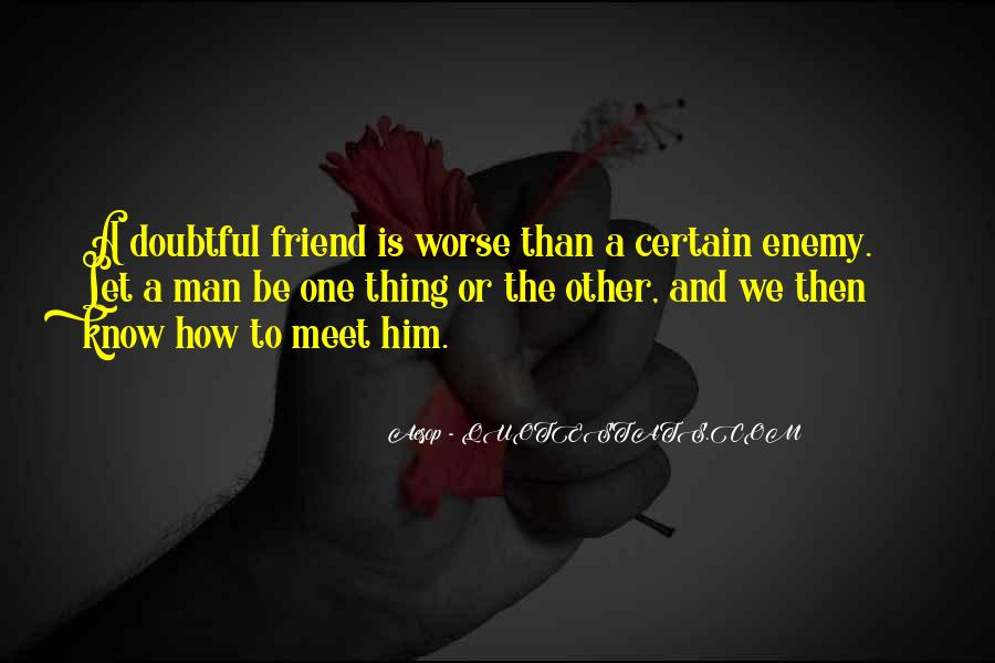 Quotes About Friend And Enemy #226177