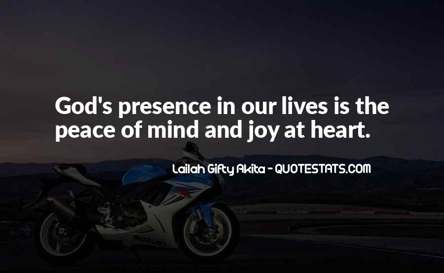 Quotes About Peace Of Heart And Mind #1013662