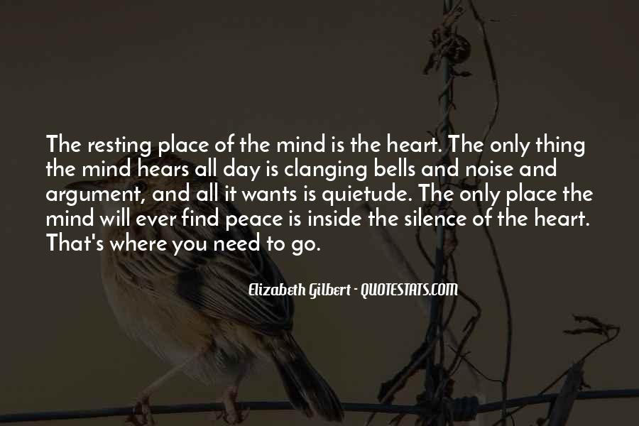 Quotes About Peace Of Heart And Mind #1298824