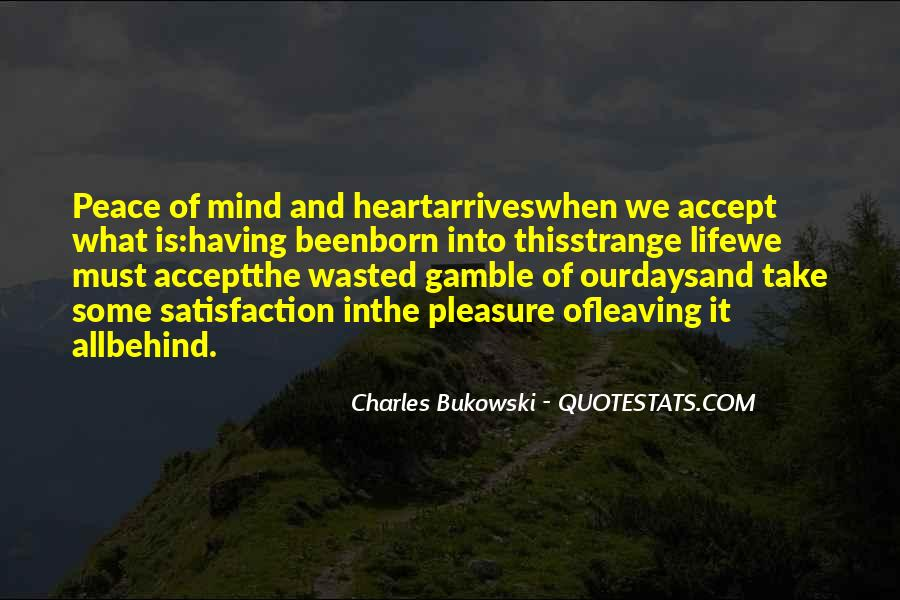 Quotes About Peace Of Heart And Mind #1630207