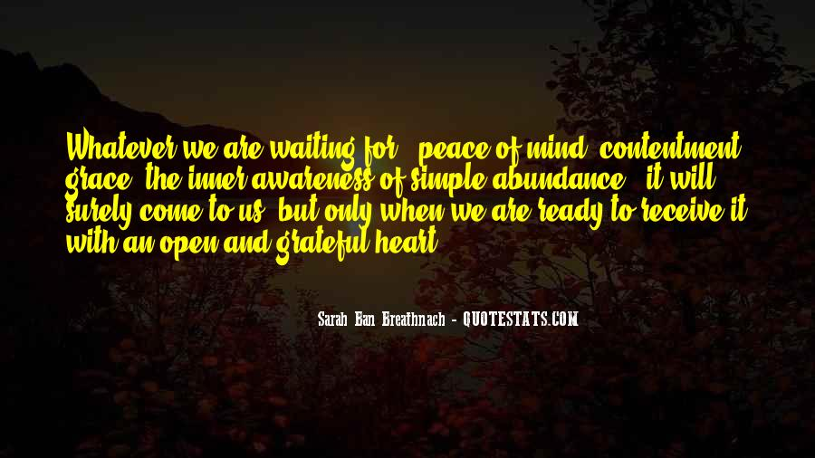 Quotes About Peace Of Heart And Mind #293375