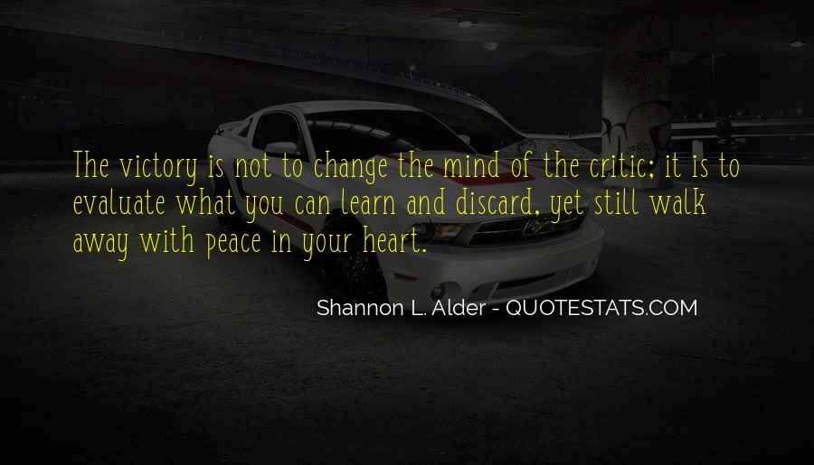 Quotes About Peace Of Heart And Mind #410009