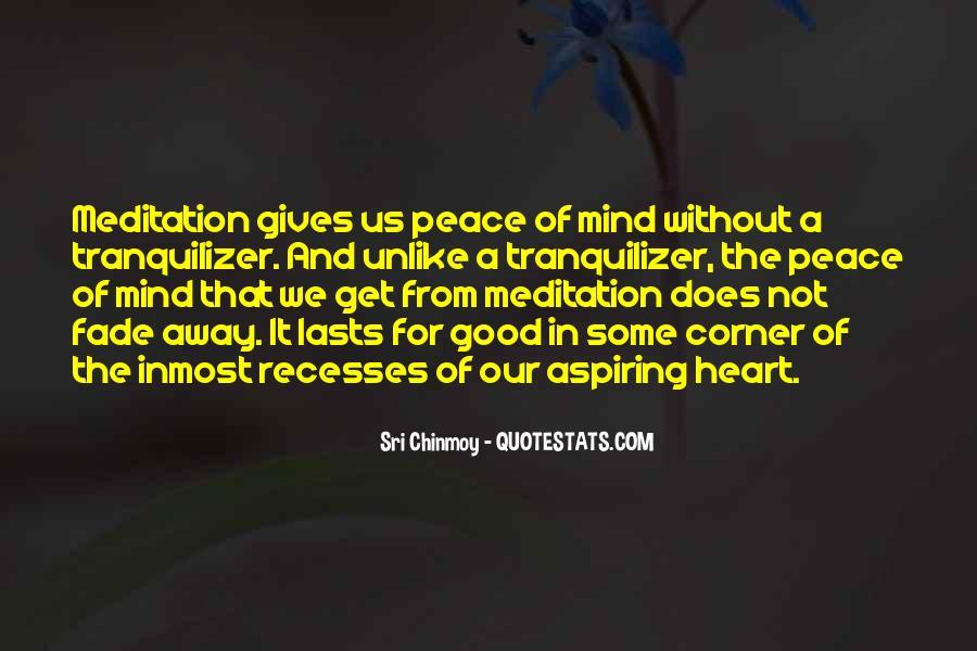 Quotes About Peace Of Heart And Mind #413061