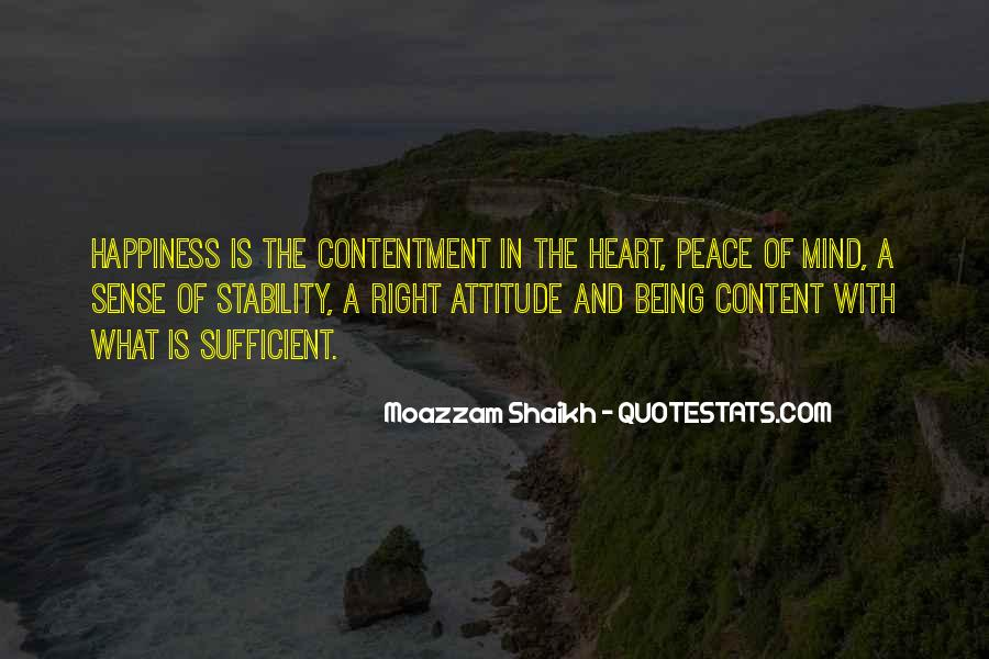 Quotes About Peace Of Heart And Mind #705163