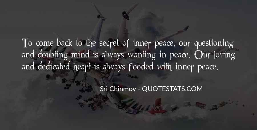 Quotes About Peace Of Heart And Mind #890564
