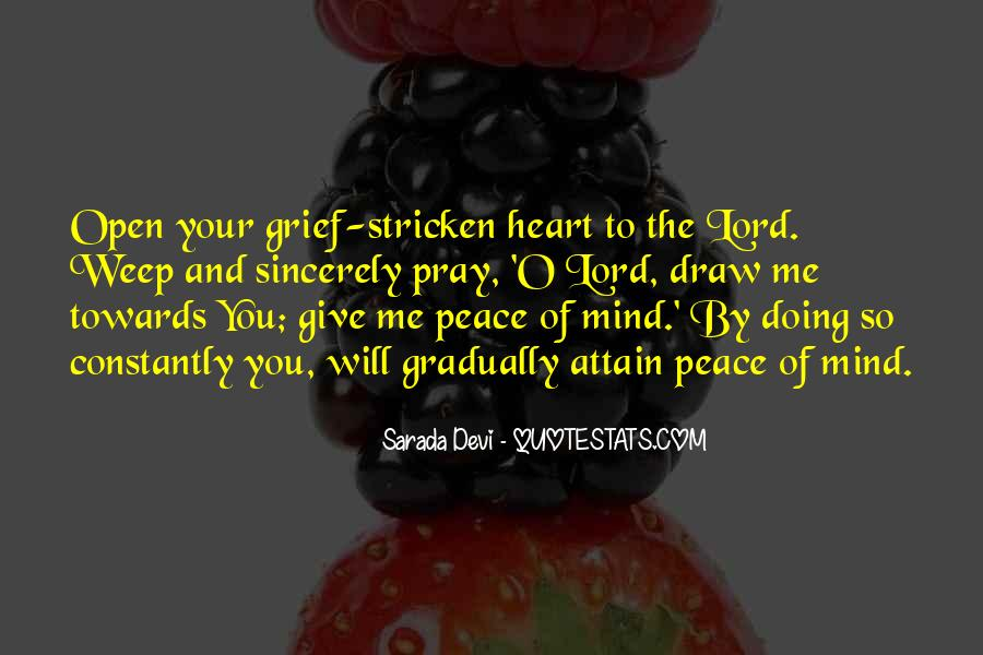 Quotes About Peace Of Heart And Mind #906413