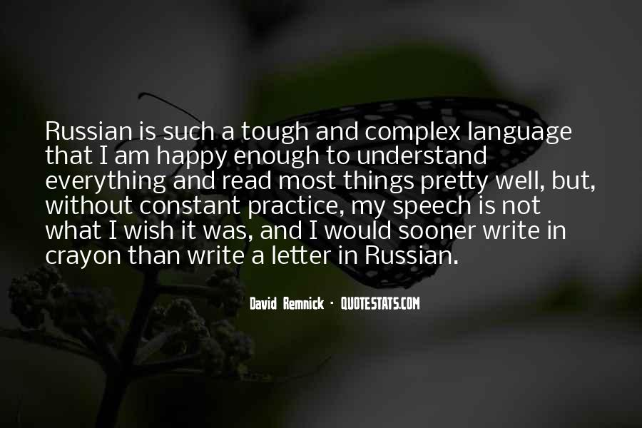 Quotes About Russian Language #315338