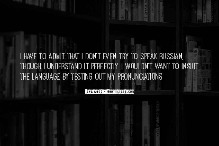 Quotes About Russian Language #868432