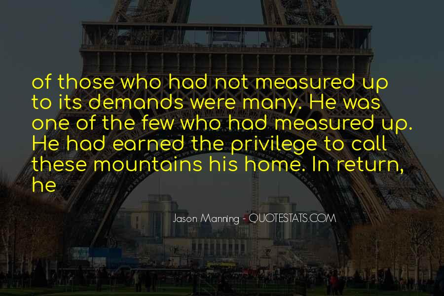 Quotes About Manning Up #1038618