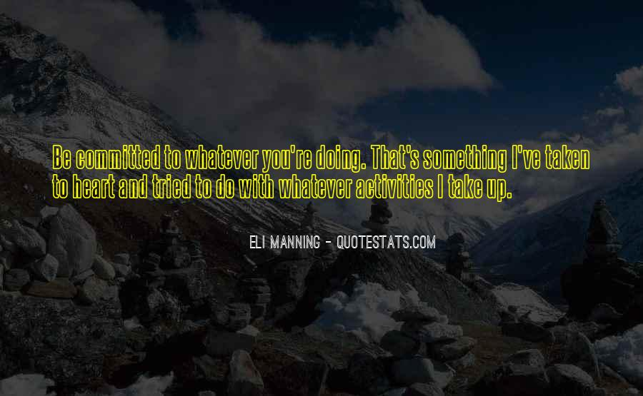 Quotes About Manning Up #1366874