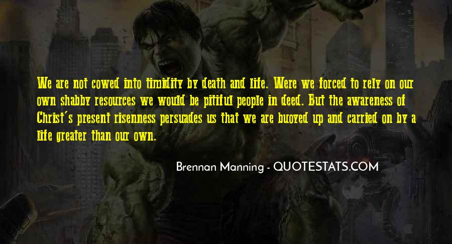 Quotes About Manning Up #1442968
