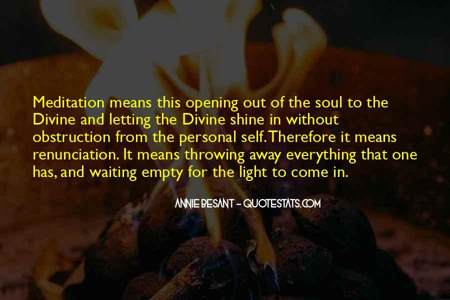 Quotes About Renunciation #125662