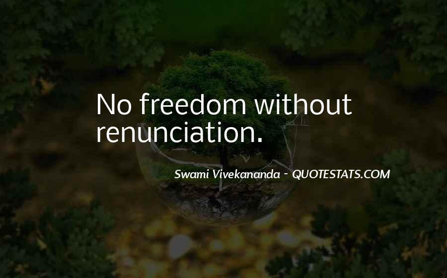 Quotes About Renunciation #293593