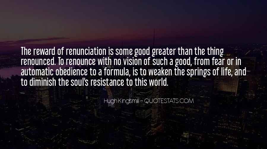 Quotes About Renunciation #310409