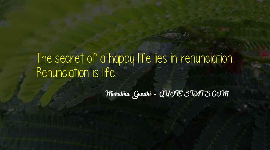 Quotes About Renunciation #700534