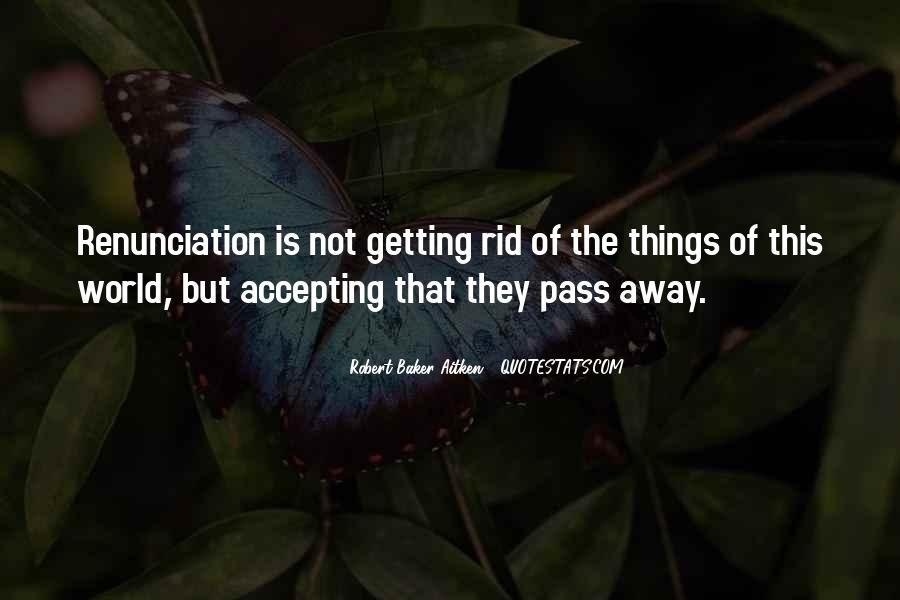 Quotes About Renunciation #725069