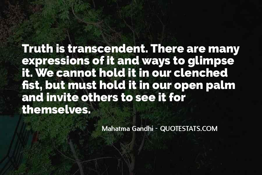 Quotes About Transcendent #389705