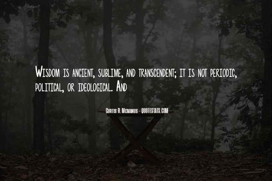 Quotes About Transcendent #608693