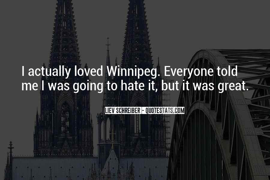 Quotes About Winnipeg #1428528