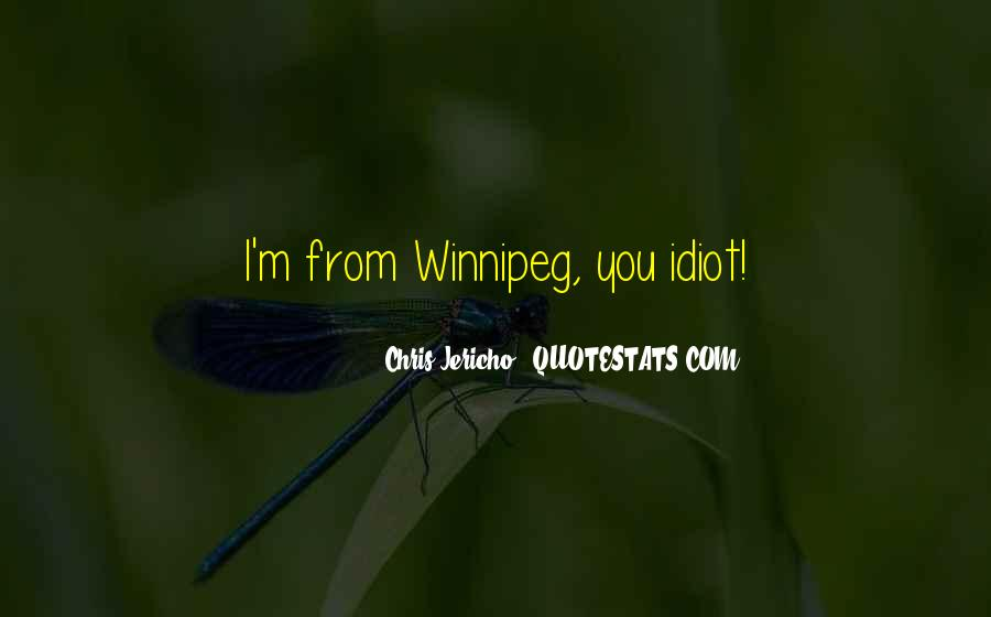 Quotes About Winnipeg #759573