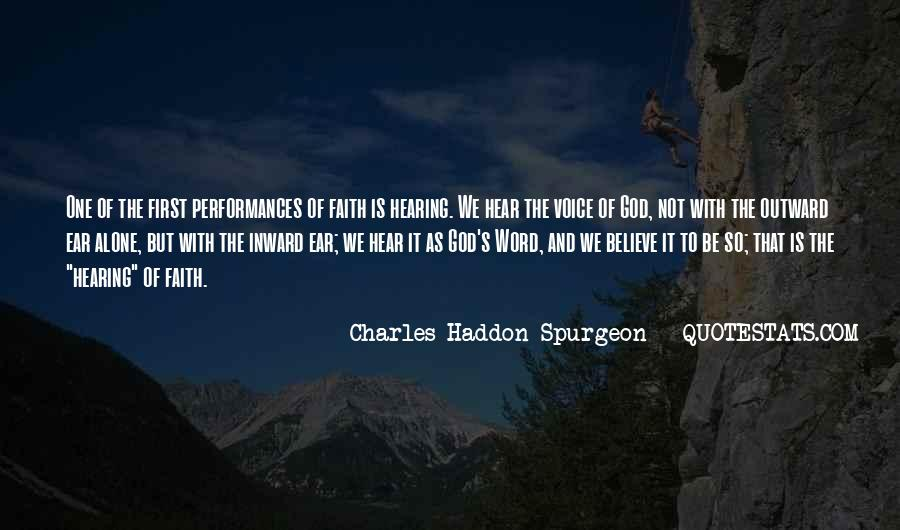 Quotes About Hearing The Voice Of God #1167858