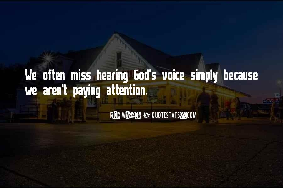 Quotes About Hearing The Voice Of God #1261642