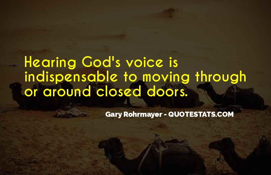 Quotes About Hearing The Voice Of God #244345