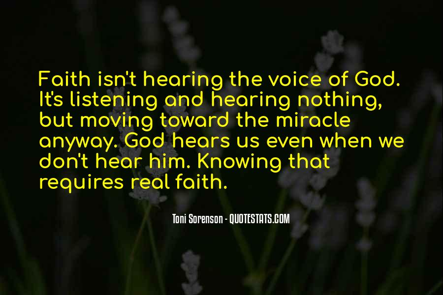 Quotes About Hearing The Voice Of God #71869