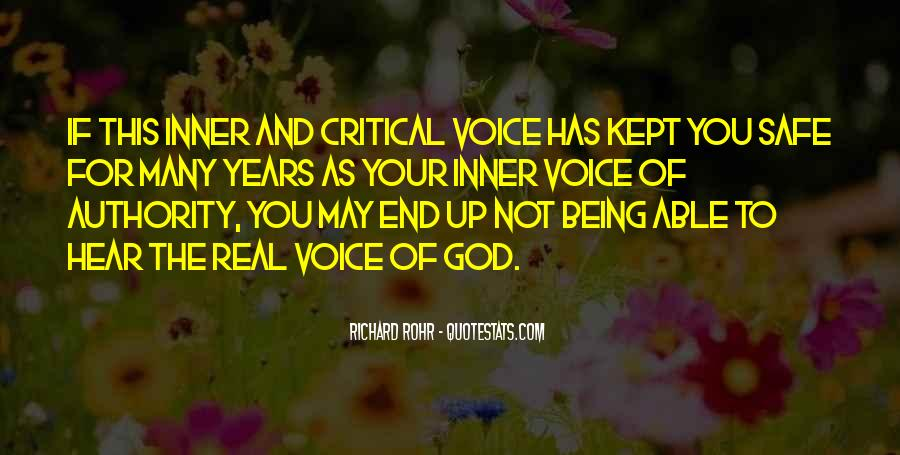 Quotes About Hearing The Voice Of God #945561