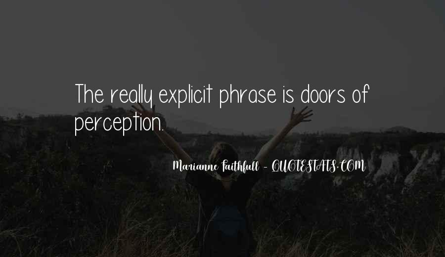 Quotes About Doors Of Perception #1013765