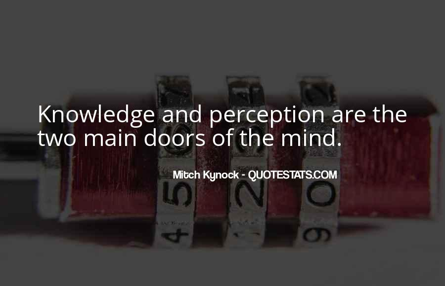 Quotes About Doors Of Perception #1160997