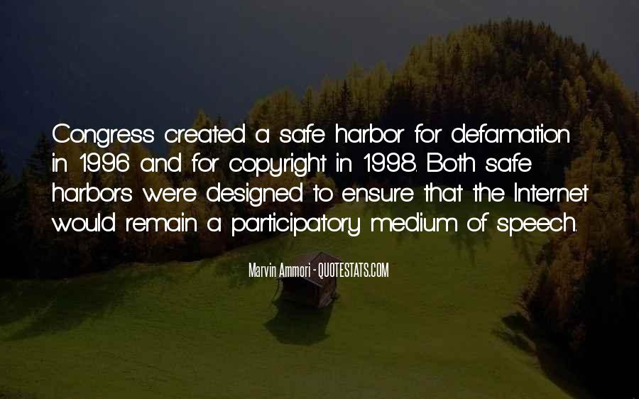 Quotes About A Safe Harbor #1301677
