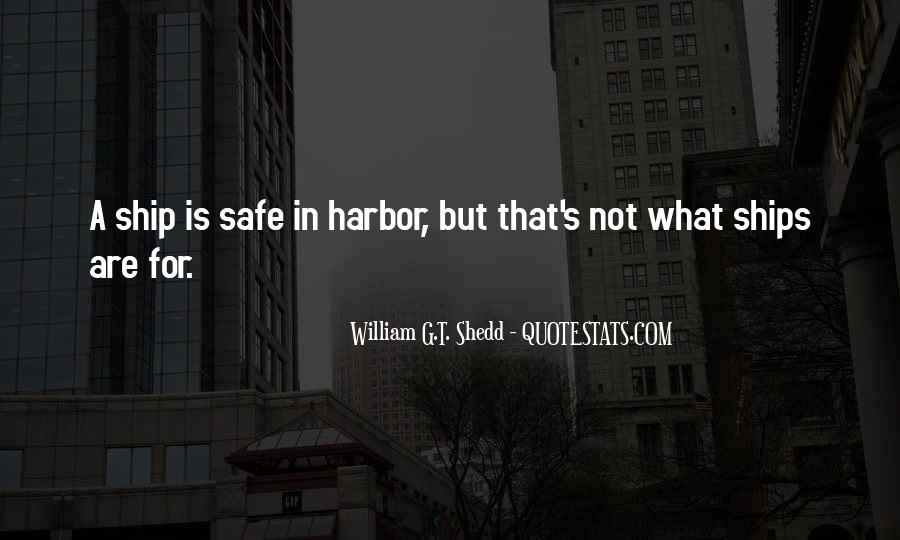 Quotes About A Safe Harbor #1641429