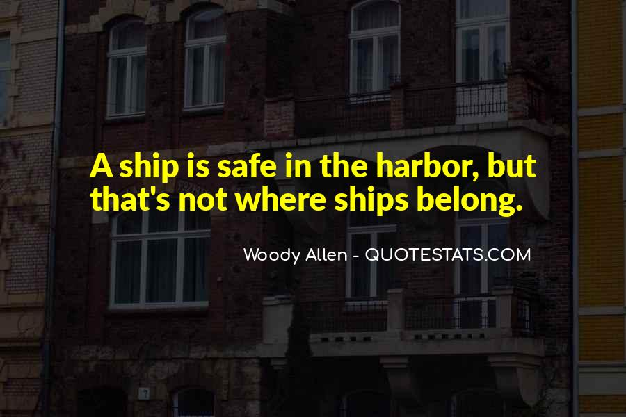 Quotes About A Safe Harbor #1846948
