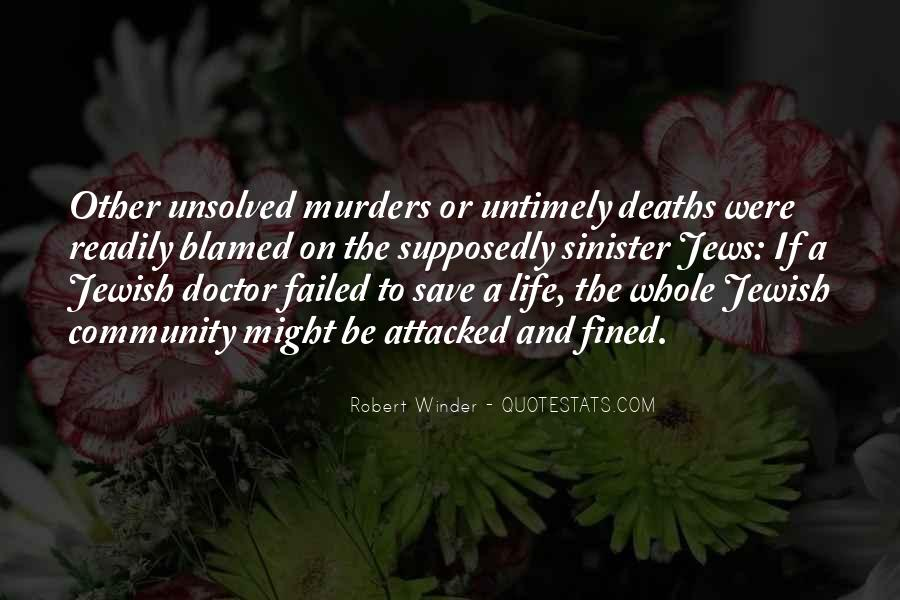 Quotes About Unsolved Murders #155697