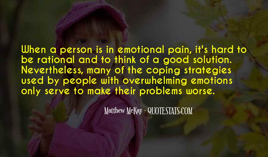 Quotes About Coping With Problems #1073299