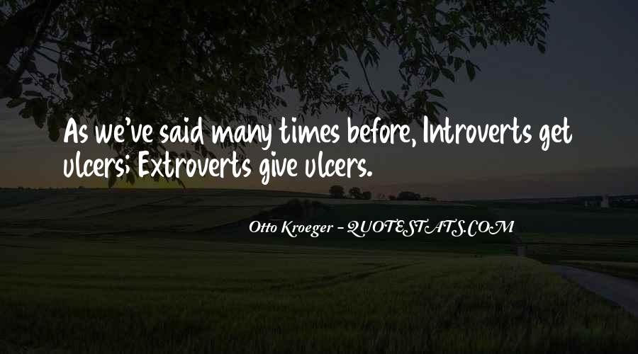 Quotes About Extroverts #1095970