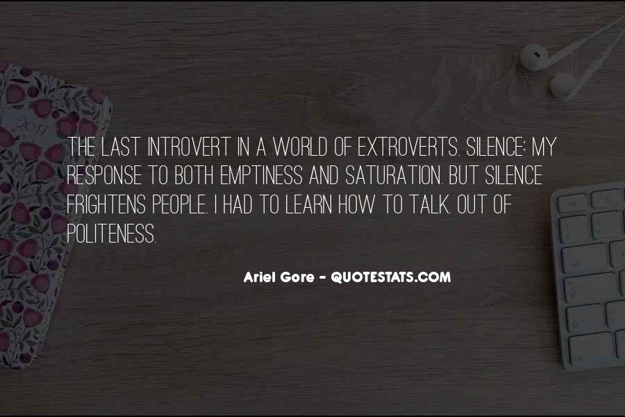 Quotes About Extroverts #610126
