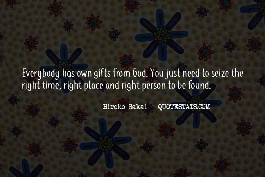 Quotes About Gifts From God #93175