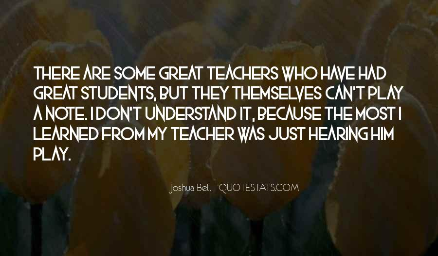 Quotes About Students From Teachers #1044