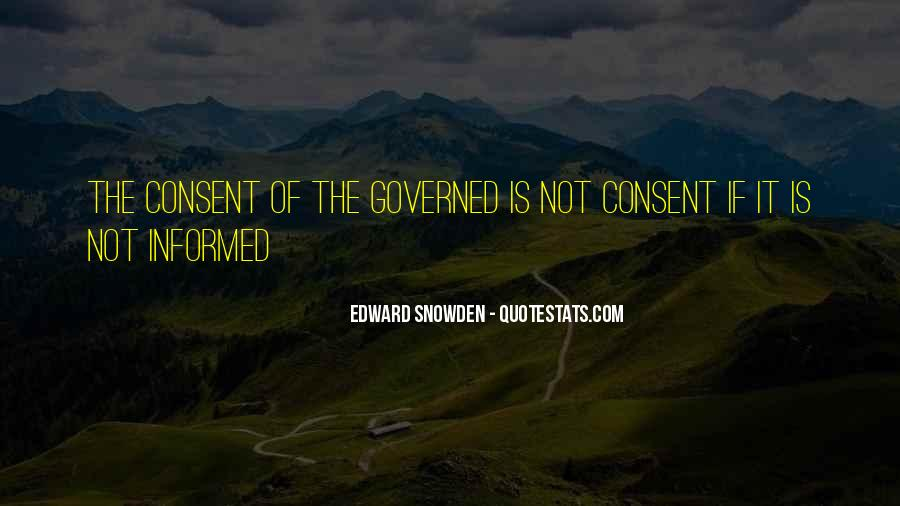Quotes About Consent Of The Governed #246995